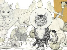 Fine Art and Manga Collide in the quirky colorful world of D