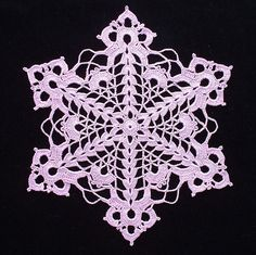 Cut-Glass Snowflake Doily - C