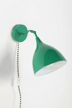 Industrial Sconce, Green - contemporary - wall sconces - Urban Outfitters