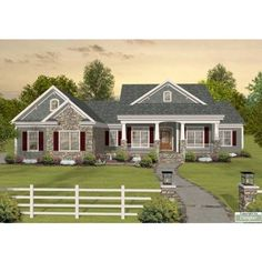Love this house! Eplans Craftsman House Plan - Tons of Room to Expand - 2156 Square Feet and 3 Bedrooms from Eplans - House Plan Code Basement House Plans, Ranch House Plans, Craftsman House Plans, House Floor Plans, Walkout Basement, Craftsman Ranch, Basement Ideas, Ranch Style Floor Plans, Basement Layout