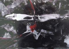 Encaustic auf Papier, schwarzer Hintergrund, SILBER (kommt leider nicht gut auf dem Foto ;-), sehr leuchtend im Original) 21x30 cm, ohne Rahmen Darth Vader, Painting, Fictional Characters, Pictures, Paper, Black Backgrounds, Frame, Abstract, Silver