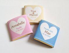 **Gastgeschenk Taufe Hochzeit Schokolade Dextro 20x**  Mit diesen süßen Schokoladentäfelchen (oder wahlweise Traubenzuckertäfelchen) kannst Du Deine Gäste verwöhnen und gleichzeitig deine Tafel...