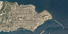 Map - From above, the city center of La Valletta, Malta Renzo Piano, Malta, City Photo, Workshop, Stone, Architecture, Building, Projects, Arquitetura