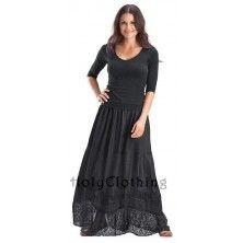Alena Chiffon Lace Victorian Gothic Vtg Skirt 2X 3X