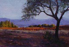 SOLD I Malaga Olive I 5x7 I Dix Baines I Fine Artist Original Oil Paintings I Mountains I Spain I www.dixbaines.com