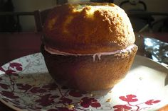 How to make any ball shaped cake-bake two cakes in one quart pyrex bowls!