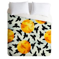 Elisabeth Fredriksson Birds I Duvet Cover | DENY Designs Home Accessories