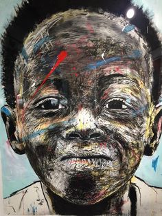 Johannesburg - Nelson Makamo 'New Works' exhibition at Circa. April 2015