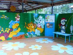 как украсить площадку в детском саду фото