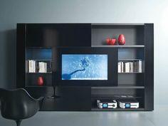 Mueble modular de pared con soporte para tv TUTTUNO by Acerbis International | diseño BURATTI BATTISTON