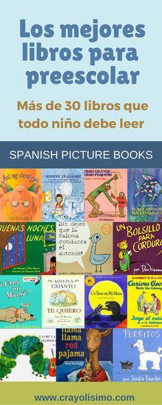Fantásticos y divertidos libros infantiles en español. Son un excelente recurso para los niños que están aprendiendo español como segundo idioma, para programas de educación bilingüe o para enriquecer las destrezas de lectura de los niños de nivel preescolar.