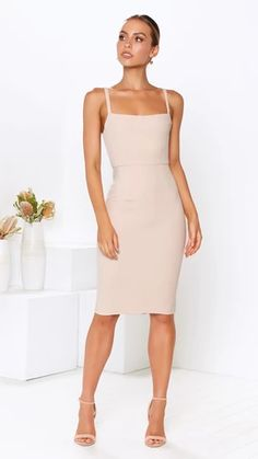 - Invisible Zipper - Body contouring fit - Fitted waist - Back leg split - Textured fabric - Polyester Bust Waist Hips Length Body Contouring, Bodycon Dress, Nude, Legs, Politics, Clothes, Dresses, Fashion, Outfits