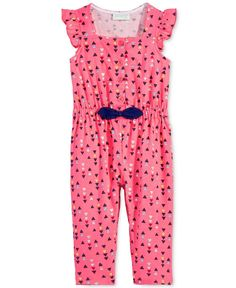 First Impressions Geo-Print Jumpsuit, Baby Girls (0-24 months), Only at Macy's