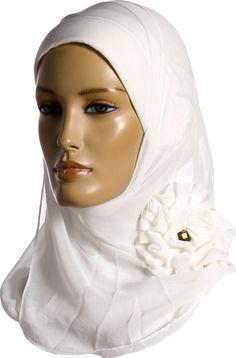 Lebanese Hijab - White http://www.muslimbase.com/clothing/hijabs/lebanese-hijab/lebanese-hijab-white-p-6574.html