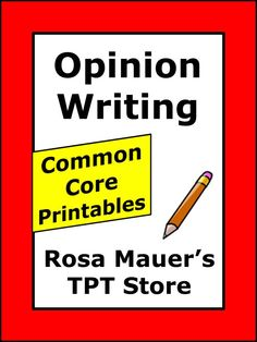 Opinion Writing Passages and Worksheets