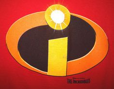 Disney Pixar The Incredibles Movie T-Shirt Tee Size XL Red Genuine Licensed #Disney
