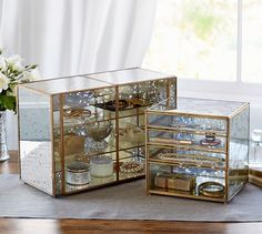 Callie Glass Jewelry Dressers | Pottery Barn. Drawers!
