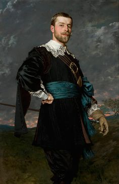 Portrait of Stanisław Czachórski (the artist's brother) in a masquerade outfit a la van Dyck, by the Polish artist Władysław Czachórski, In the National Museum in Warsaw, Poland. Masquerade Outfit, Renaissance Portraits, Montage Photo, Oil Portrait, National Museum, Beautiful Paintings, Art History, Painting & Drawing, Art Gallery