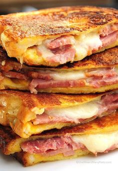 The Monte Cristo is the best darn ham and cheese sandwich ever. Try it for breakfast, lunch, or dinner.: