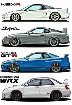 i mean, i don't really agree with the wrx being placed next to all of those jdm coupes. would be more fitting next to an evo and an but no hate against wrx, all great cars. Toyota Supra, Tuner Cars, Jdm Cars, Cars Auto, Stance Nation, Street Racing Cars, Auto Racing, Drifting Cars, Import Cars