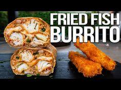 The Best Fish Stick Burrito Fish Burrito, Deep Fried Fish, Taco Restaurant, Fish Sticks, Easy Food To Make, Refried Beans, Burritos, Seafood Recipes, Food Inspiration