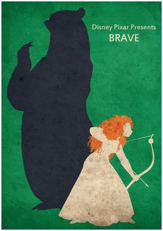 Brave - Minimalist Disney Pixar movie poster, Minimalist Retro Poster, Movie Poster, Art Print  Poster Size: 11.7 inches X 16.5 inches  Printed on