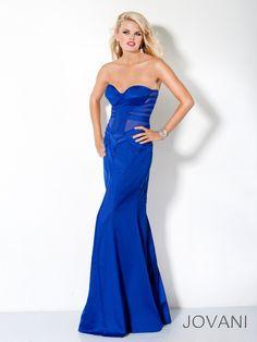 Column Blue Sweetheart Open Back Long Prom Dress With Zipper
