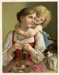 Mothers Day Knitting Image