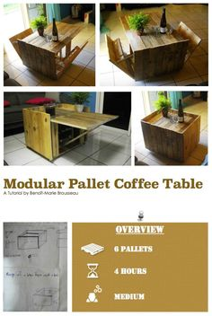 DIY Tutorial: Modular Pallet Coffee Table • 1001 Pallets