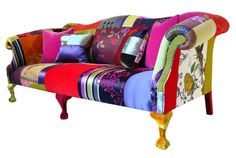 Patchwork sofa by Lisa Whatmough image