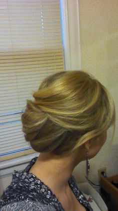 Simple updo mom wedding hair