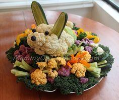 Creative Easter Bunny Veggie Platter idea