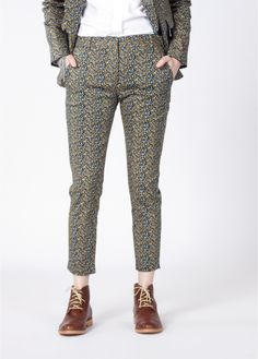 The Patel Pant Vintage floral slim cropped tuxedo spring wedding trouser Tomboy Chic, Out Of The Closet, Wedding Crashers, Edgy Outfits, Trousers, Pants, Classic Looks, Street Wear, Menswear