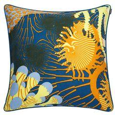 Merivuokko cushion cover, yellow, by Marimekko.