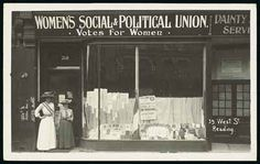 VOTES FOR WOMEN! The Women's Social and Political Union (WSPU) was founded in Manchester in October 1903. Emmeline Pankhurst founded the Women's Social and Political Union and her daughter, Christabel Pankhurst, was to become a stalwart member. http://www.historylearningsite.co.uk/womens_social_political_union.htm