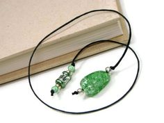 Book Thong Bookmark Beaded Book Cord Book String by TJBdesigns, $4.00