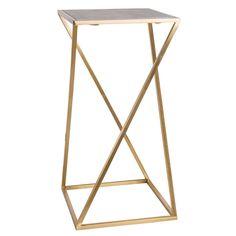 Beistelltisch aus goldfarbenem Metall und Marmor Jetzt bestellen unter: https://moebel.ladendirekt.de/wohnzimmer/tische/beistelltische/?uid=0aab41b3-288d-5e40-8699-d1253a5c1a03&utm_source=pinterest&utm_medium=pin&utm_campaign=boards #beistelltische #wohnzimmer #tische