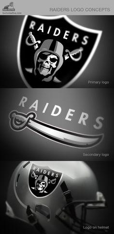 Oakland Raiders logo concept.