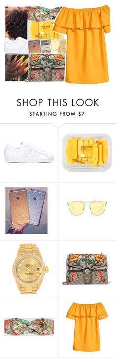 """""""Untitled #456"""" by princessjolie ❤ liked on Polyvore featuring adidas, MANGO, Jack Spade, Rolex and Gucci"""