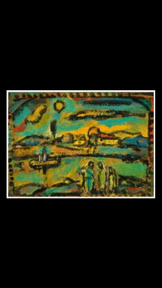 Georges Rouault - Paysage biblique, c. 1953-1956 - Oil on card laid down on canvas - 39 x 53,3 cm