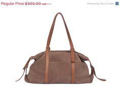 Tommy Bag- Brown duffle bag - leather bag