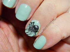 Manicura de araña 3D | Reto Halloween | Toxic Vanity