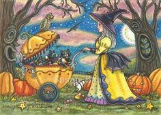 Art: TWILIGHT PARK by Artist Susan Brack Original Halloween Fantasy Art EBSQ CP Licensing EHAG