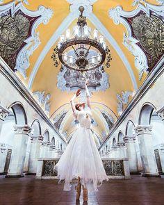 Russian ballet dancer Darian Volkova (place: Komsomolskaya Metro Station, Moscow ) // photography by Kristina Makeeva (@hobopeeba) • Instagram photo