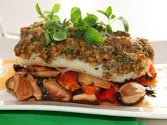 Alain Ducasse – Cod with herb-butter, shiitake and tomato concassée