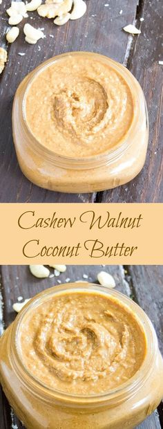 This creamy nut butter anything but ordinary. This nut butter is a combination of toasted walnut and cashew butter with coconut flakes mixed in at the end. Add this to oatmeal or spread on your a nut butter sandwich or over a banana. Make your own gourmet nut butter at home.