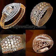 Latest Collection of best Indian Jewellery Designs. Diamond Bracelets, Gold Bangles, Bangle Bracelets, Gold Jewelry, Diamond Jewellery, Pakistani Jewelry, Indian Jewelry, Schmuck Design, Jewelry Patterns