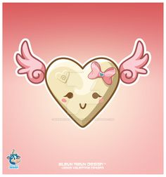 Kawaii White Chocolate Heart by KawaiiUniverseStudio.deviantart.com on @DeviantArt