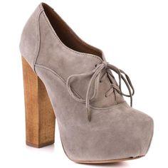 Oxford + chunky heel