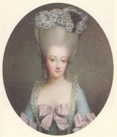 Marie A's sister-in-law, Marie Therese of Savoy, Comtesse d'Artois. Once Marie-Antoinette started wearing the pouf, it was quickly adopted by other women at the French Court.